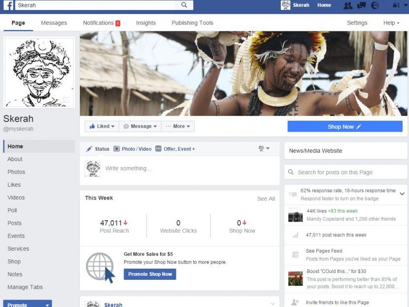 The most popular Facebook pages liked by Papua New Guineans