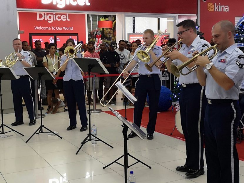 US Air Force Band Entertains At Vision City
