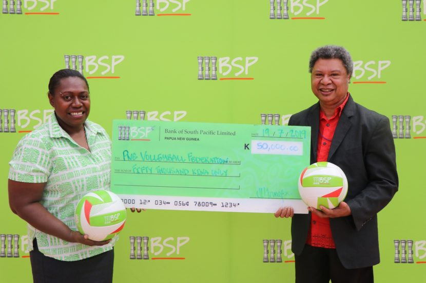 BSP serves up K50, 000 to PNG Volleyball Association Inc